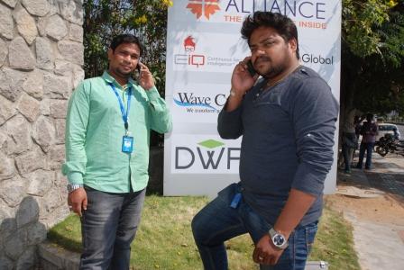 Hyderabad, Hitec City. Ashish Kumar e Shaik Asif, tecnici informatici