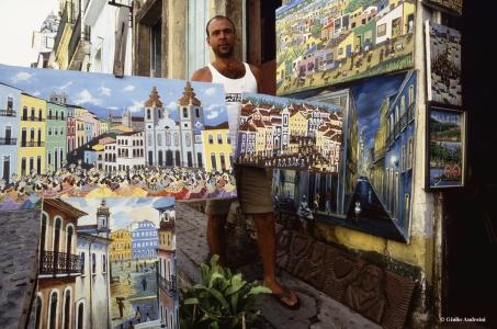 Salvador, Pelourinho, artista